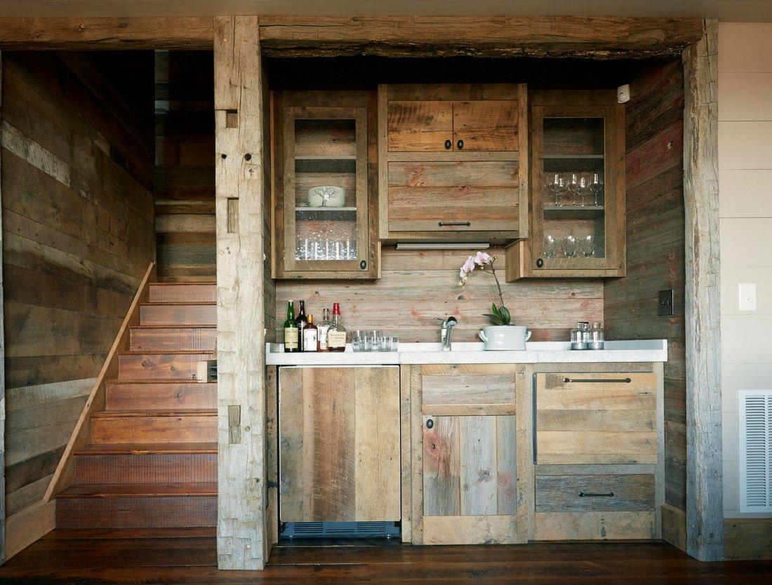 Мини кухни в стиле рустик