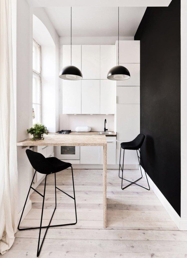 Мини кухни в стиле минимализм
