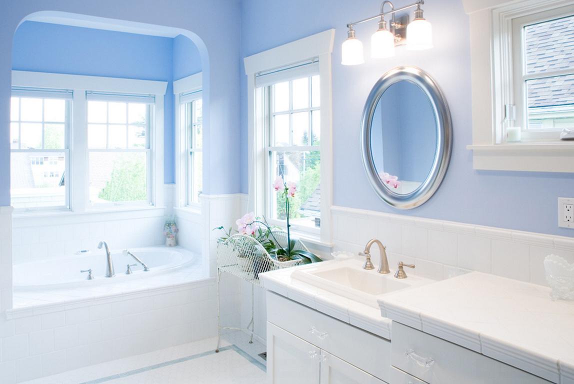 бело голубая ванная