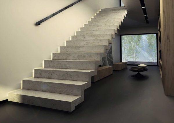Лестницы из бетона являются наиболее популярными среди конструкций данного типа