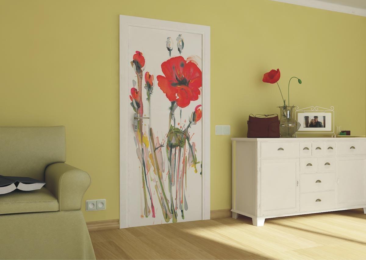 декор двери красками