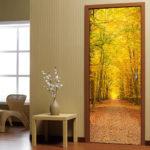 декор двери своими руками виды оформления