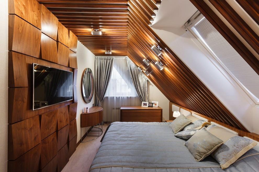 дерево в интерьере спальни