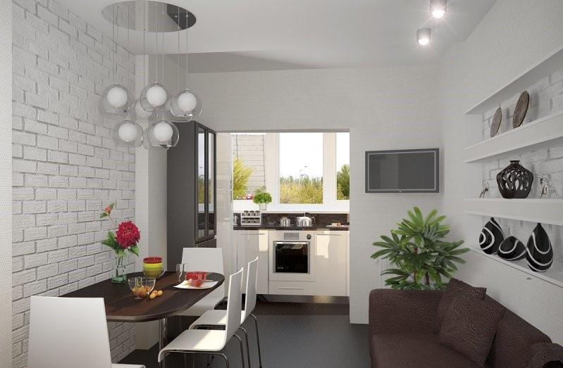 идеи дизайна кухни на балконе