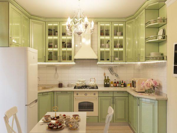 Создавая проект кухни Прованс, стоит учитывать момент: должно преобладать больше светлых красок.
