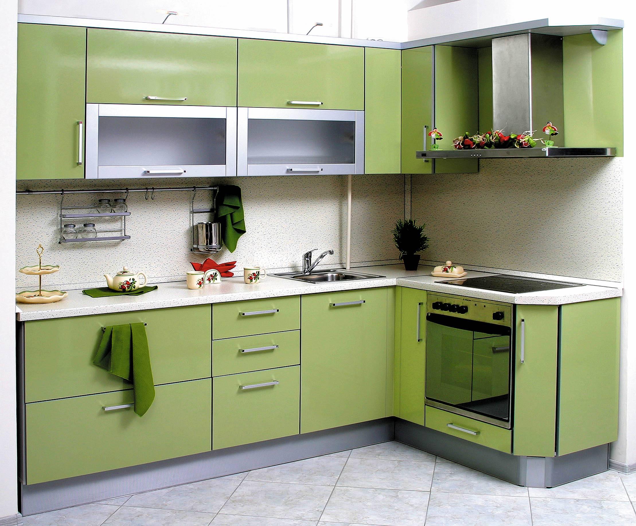 картинки кухонных гарнитуров для маленькой кухни угловые фото