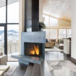 домашний камин в гостиной идеи дизайна