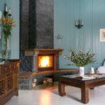 домашний камин в гостиной фото декор