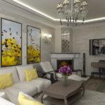 электрический камин для дома декор фото