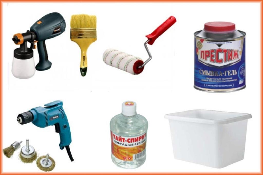 инструменты для покраски радиатора