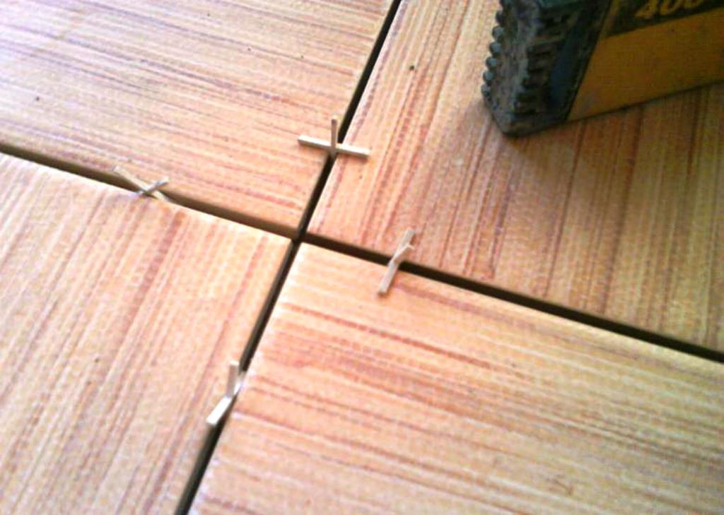 использование крестиков для плитки