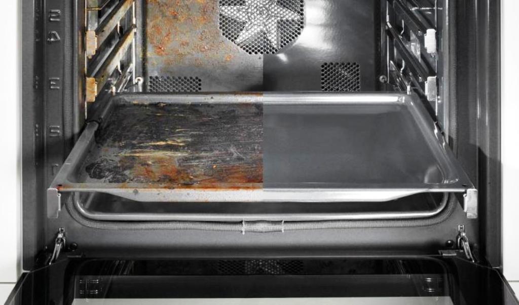 как очистить духовку от нагара и жира