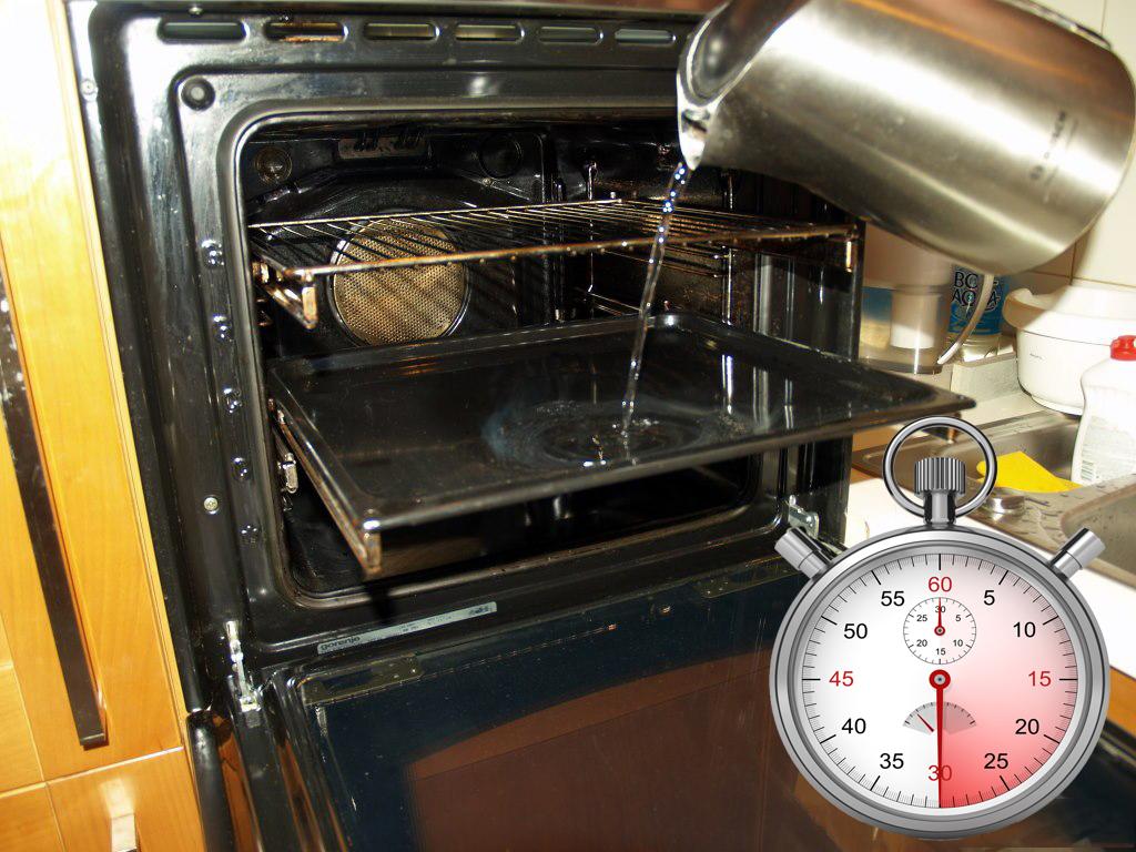 как очистить духовку и решетки