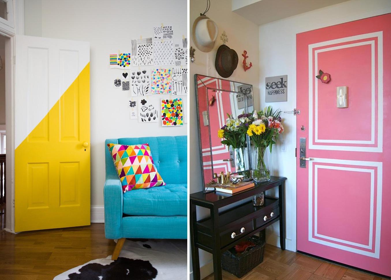 как покрасить дверь