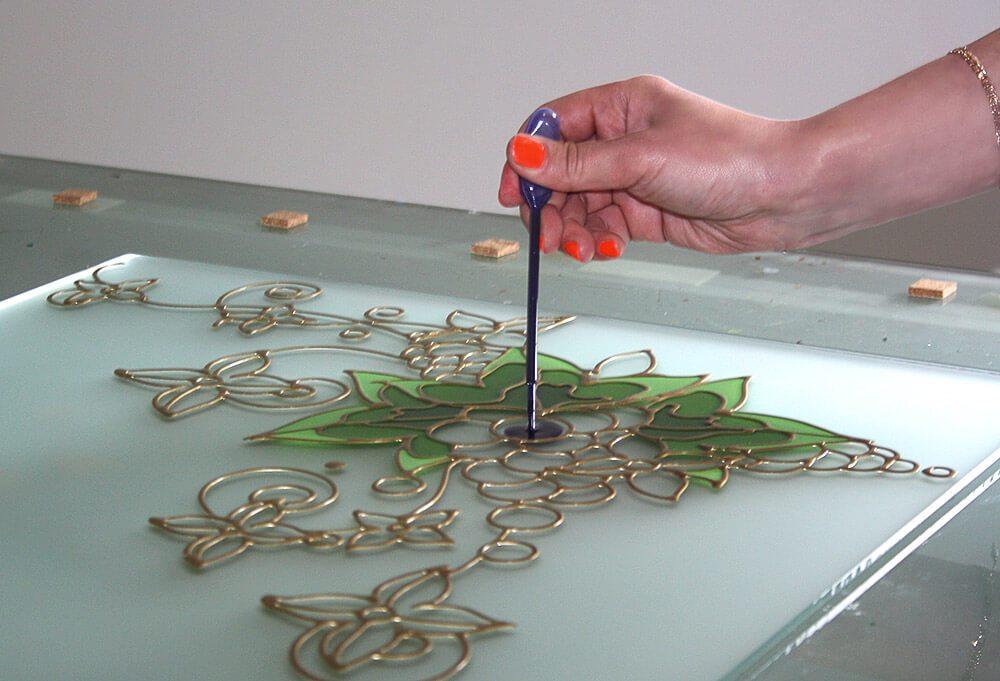 как сделать заливной витраж красками