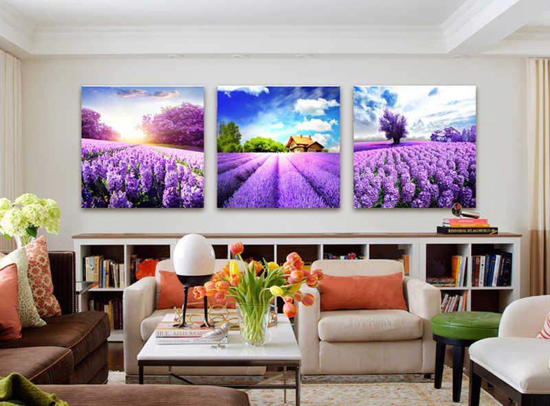 картины с лавандой в гостиную