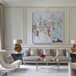 минималистичные картины в интерьере гостиной