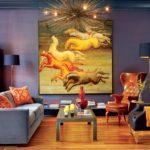 стильные картины в интерьере гостиной