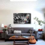 картины в интерьере гостиной минимализм
