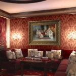картины в интерьере гостиной арт деко