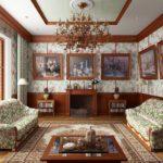 картины в интерьере гостиной в викторианском стиле