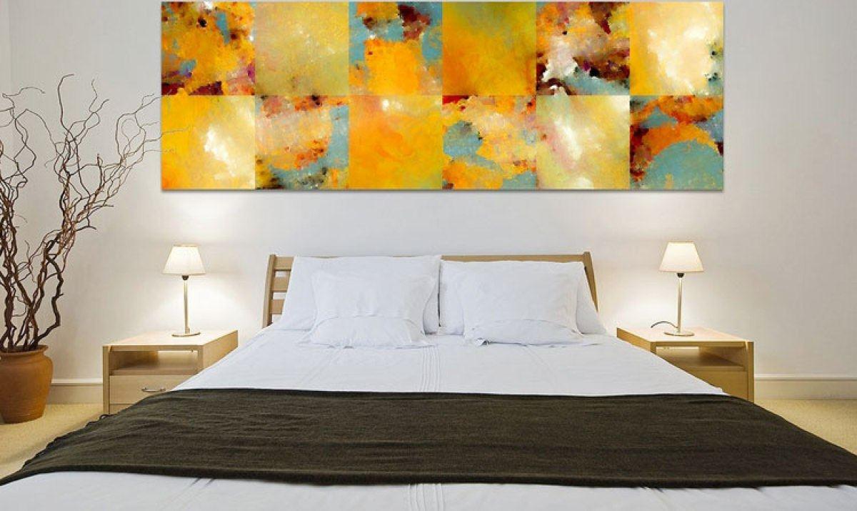картины в спальню абстракция