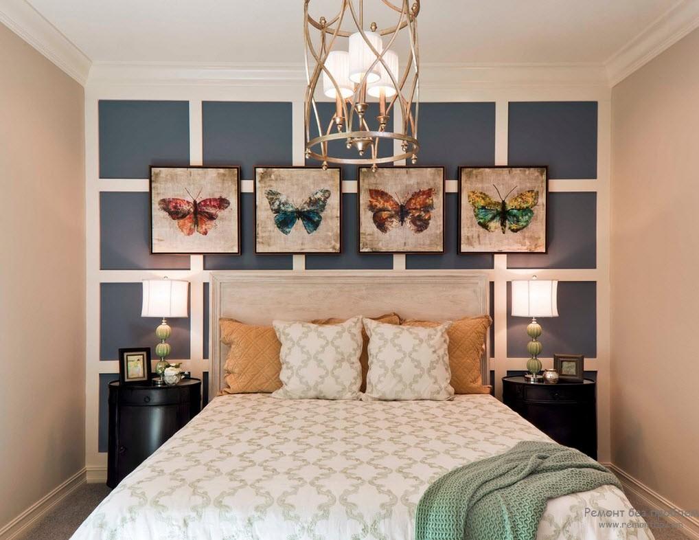 картины в спальню бабочки