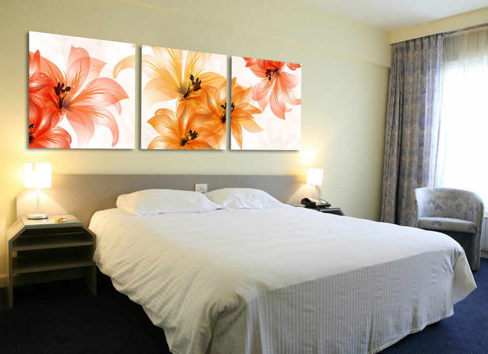картины в спальню цветы