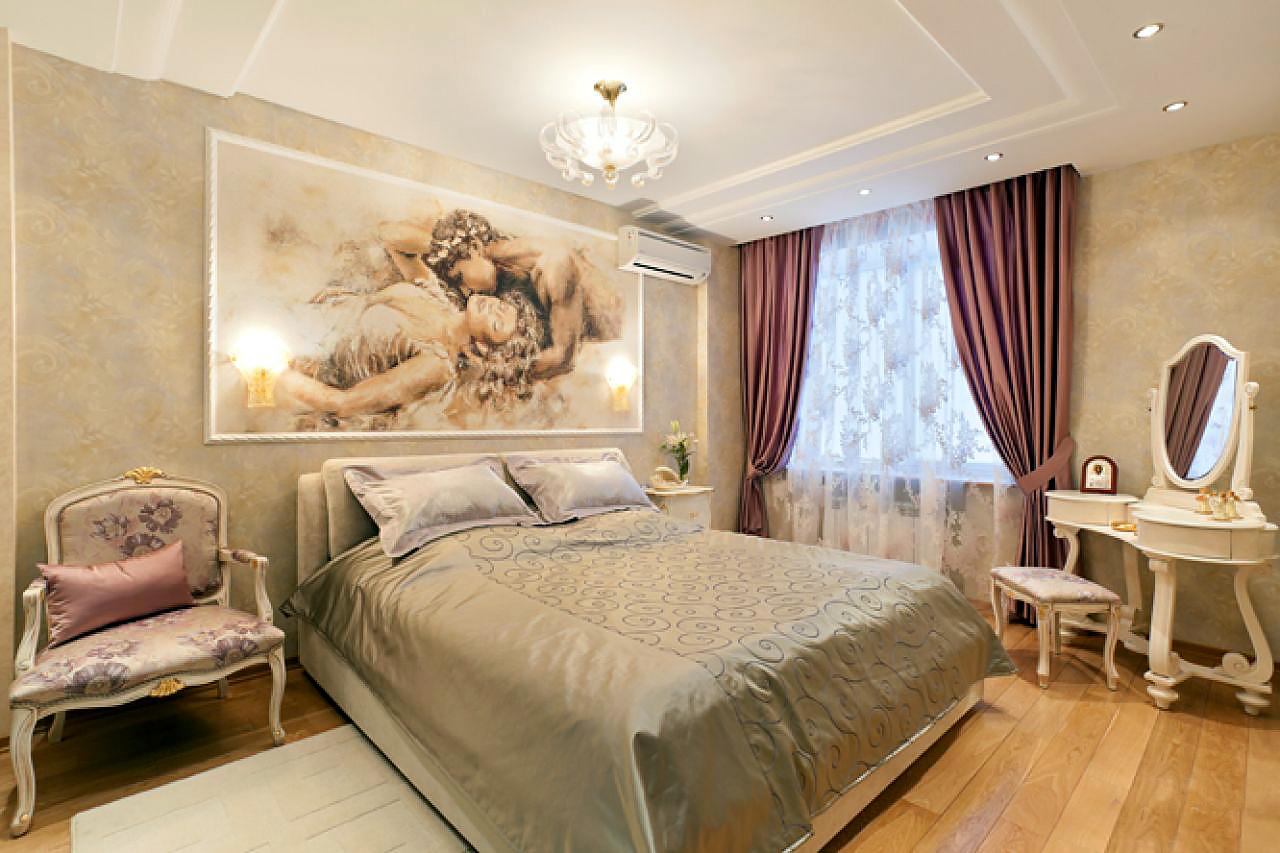 картины в спальню классика