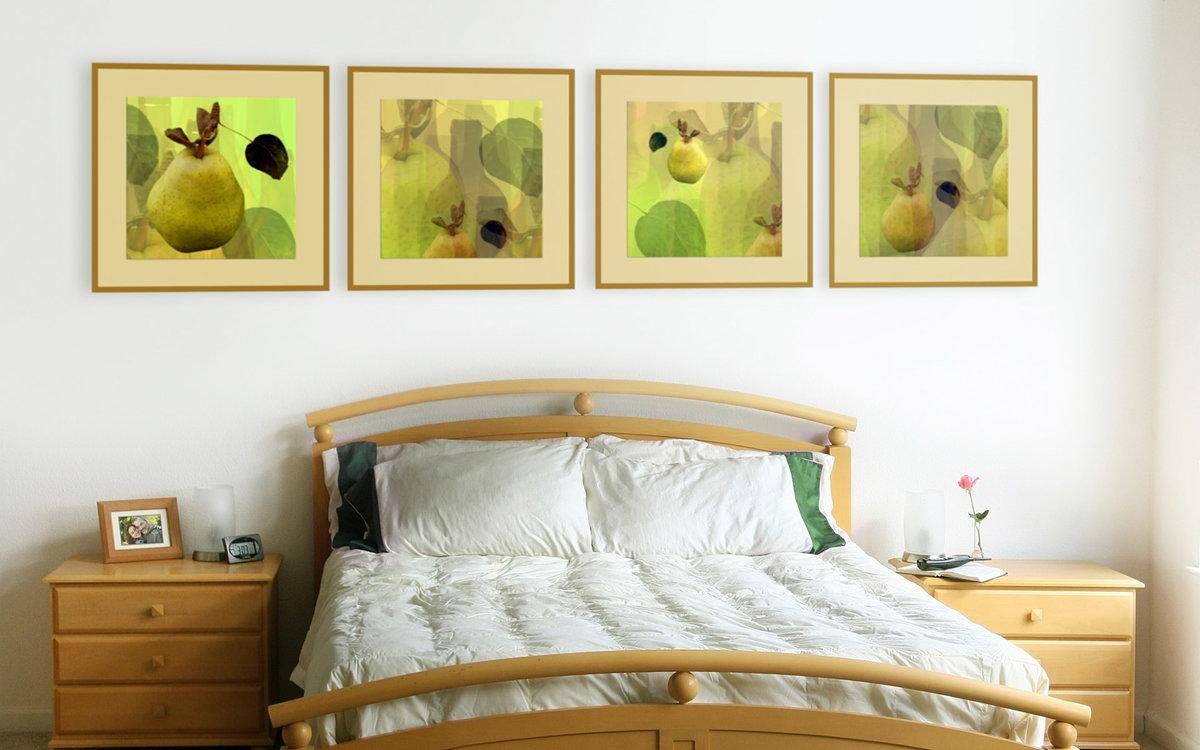 картины в спальню с фруктами