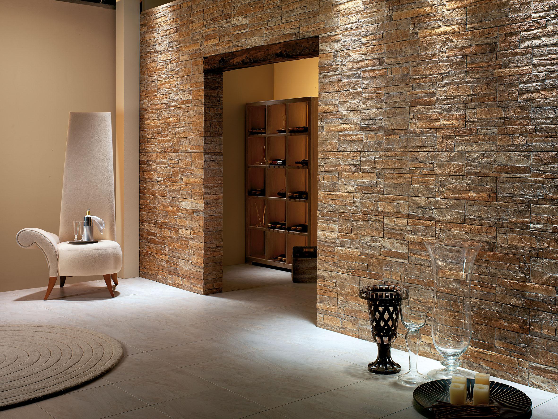 керамическая плитка под камень для стен