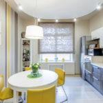 короткие шторы на кухне идеи декор