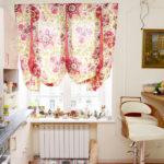 короткие шторы на кухне идеи виды