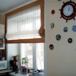 короткие шторы на кухне виды дизайна