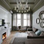 серый крашеный потолок