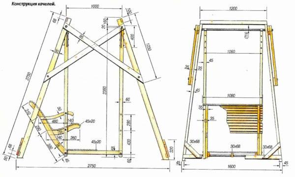 Потребуется подготовить проект, где подробно обрисовать будущую конструкцию качели