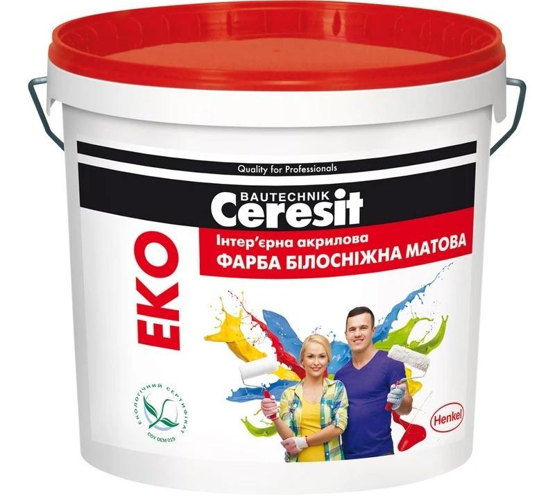 краска для потолка Ceresit