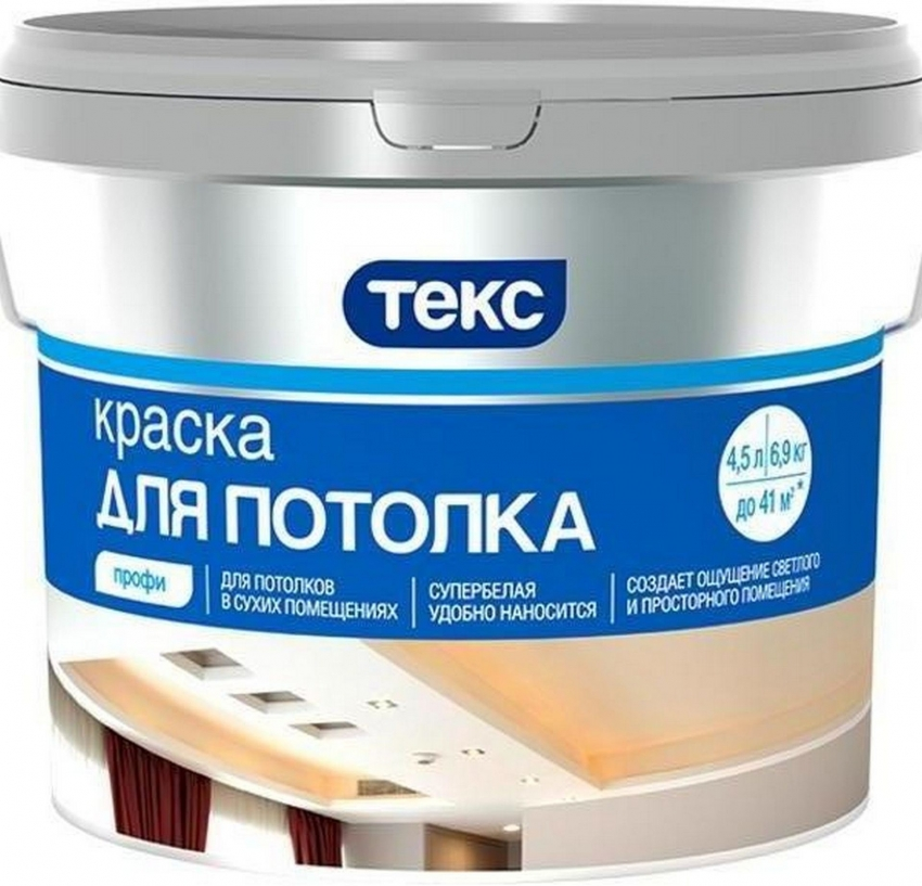 краска для потолка Текс