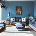 краска для стен в квартире фото интерьер
