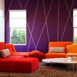 краска для стен в квартире интерьер идеи