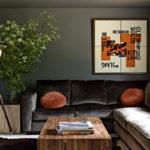 краска для стен в квартире интерьер