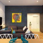 краска для стен в квартире дизайн