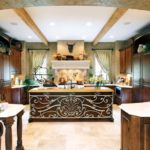 кухня венге в стиле кантри
