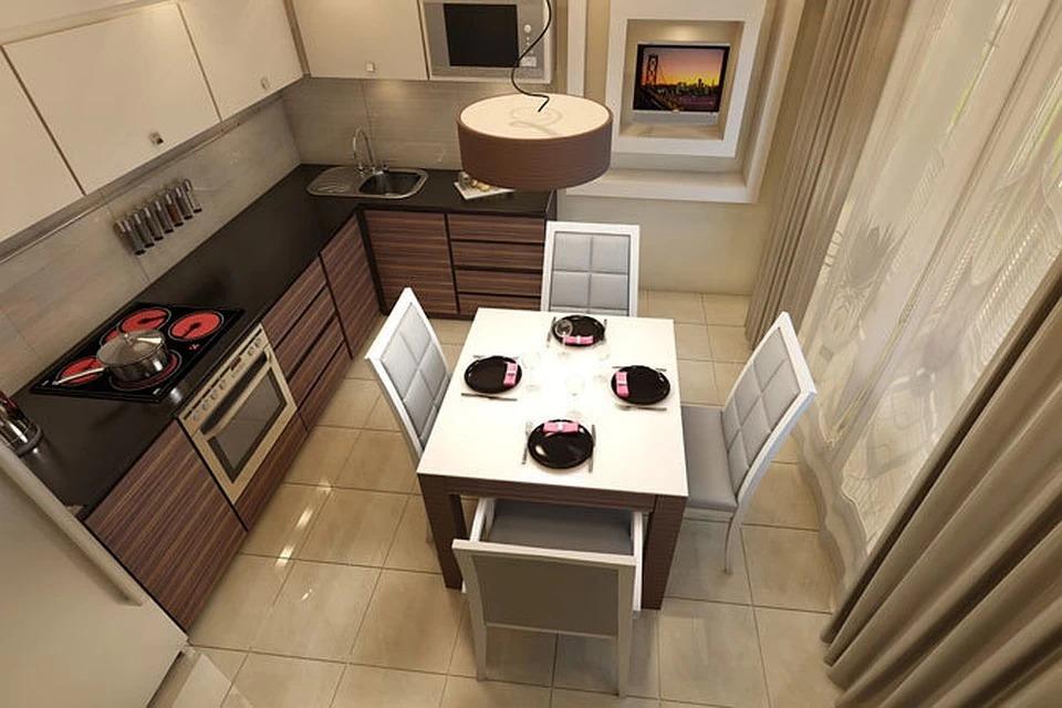 кухня на балконе лоджии