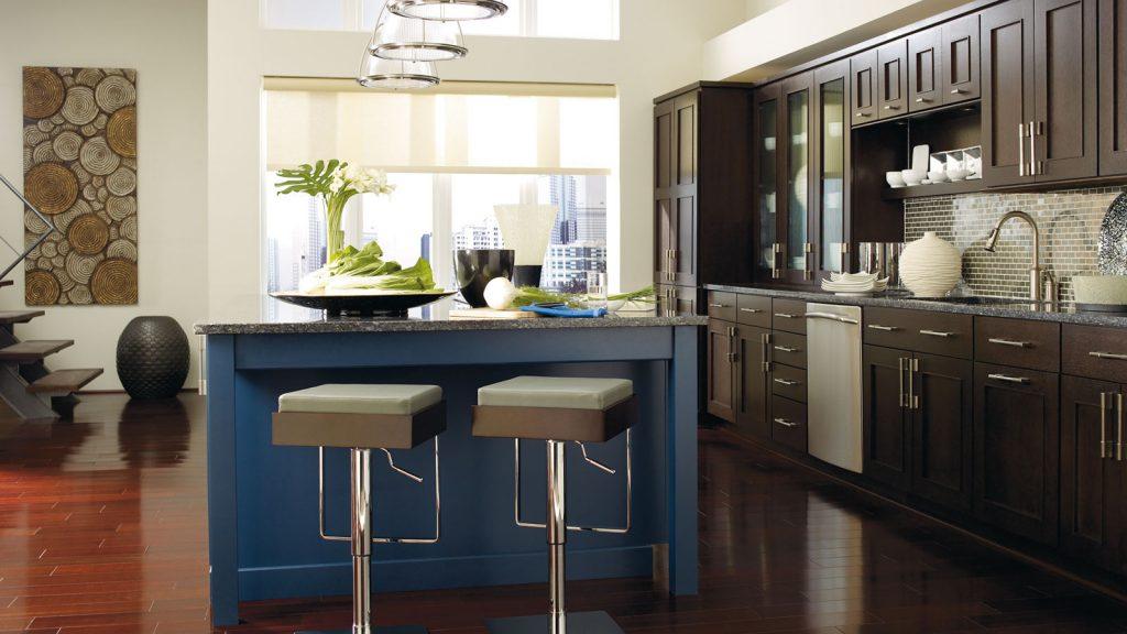 кухня венге с синим