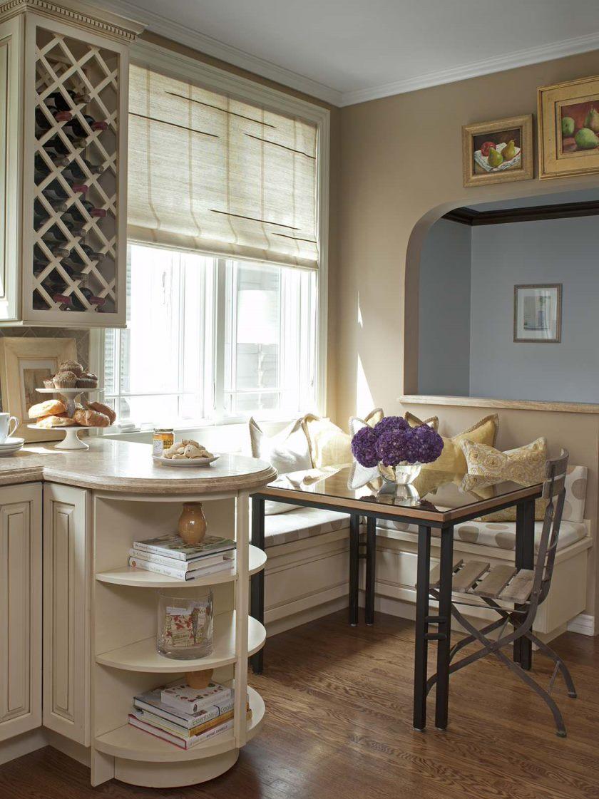 светлый кухонный уголок