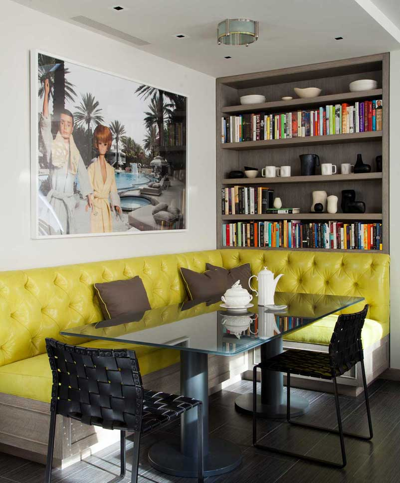 кухонный уголок жёлтого цвета