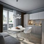 кухня совмещенная с балконом декор идеи