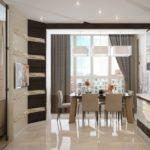 кухня совмещенная с балконом фото интерьера