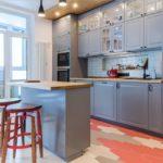 кухня совмещенная с балконом фото видов